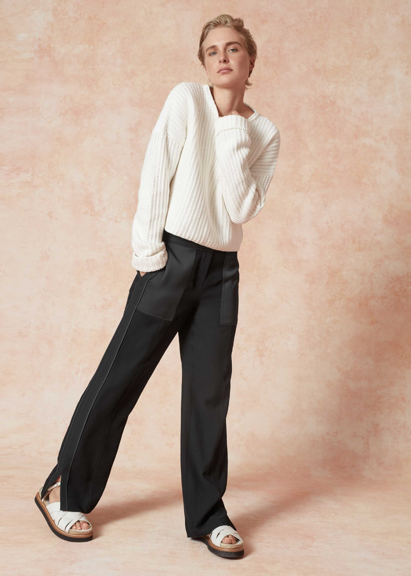 Twill & Satin Trousers